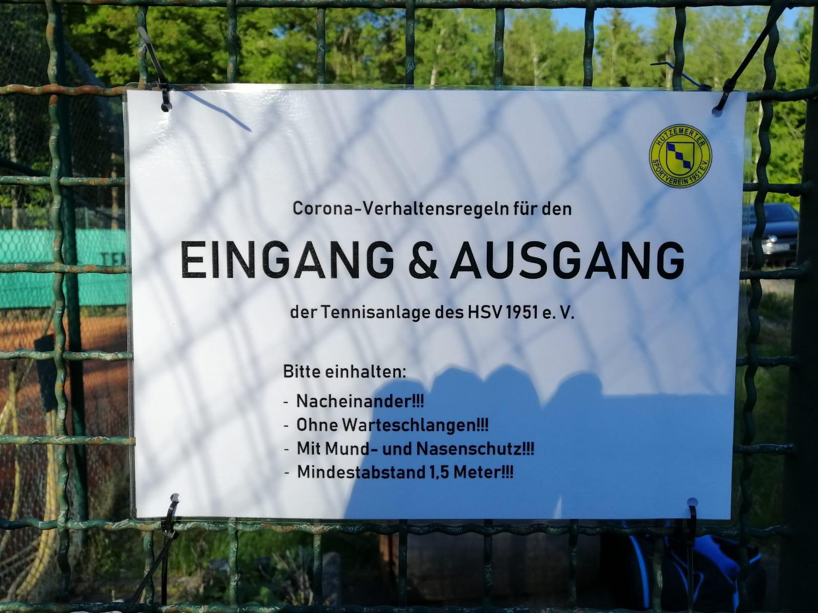 Tennis-Trainingsbetrieb wieder freigegeben